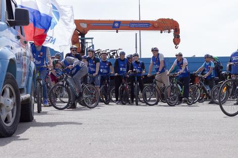 В Минеральных Водах состоялся патриотический велопробег