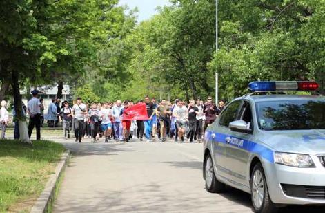 Минераловодцы преодолели три километра краевого марафона «Знамя Победы»
