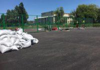 Спортивную площадку в селе Прикумское